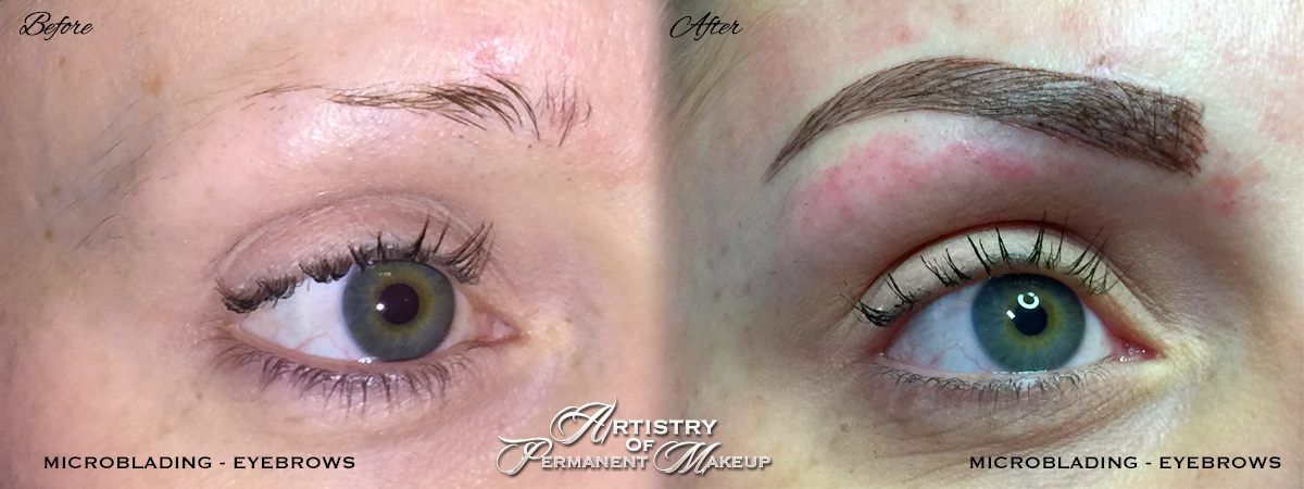 Micro-blading eyebrows in Orange County