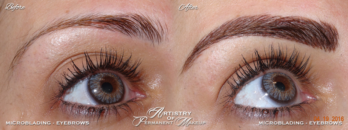 Microblading for women in San Diego County and Orange County by Artistry Of Permanent Makeup
